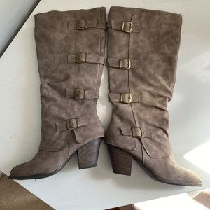 Taupe Fall Boots